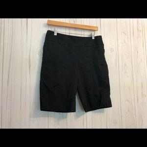 White House Black Market Black Shorts Side Zip 8